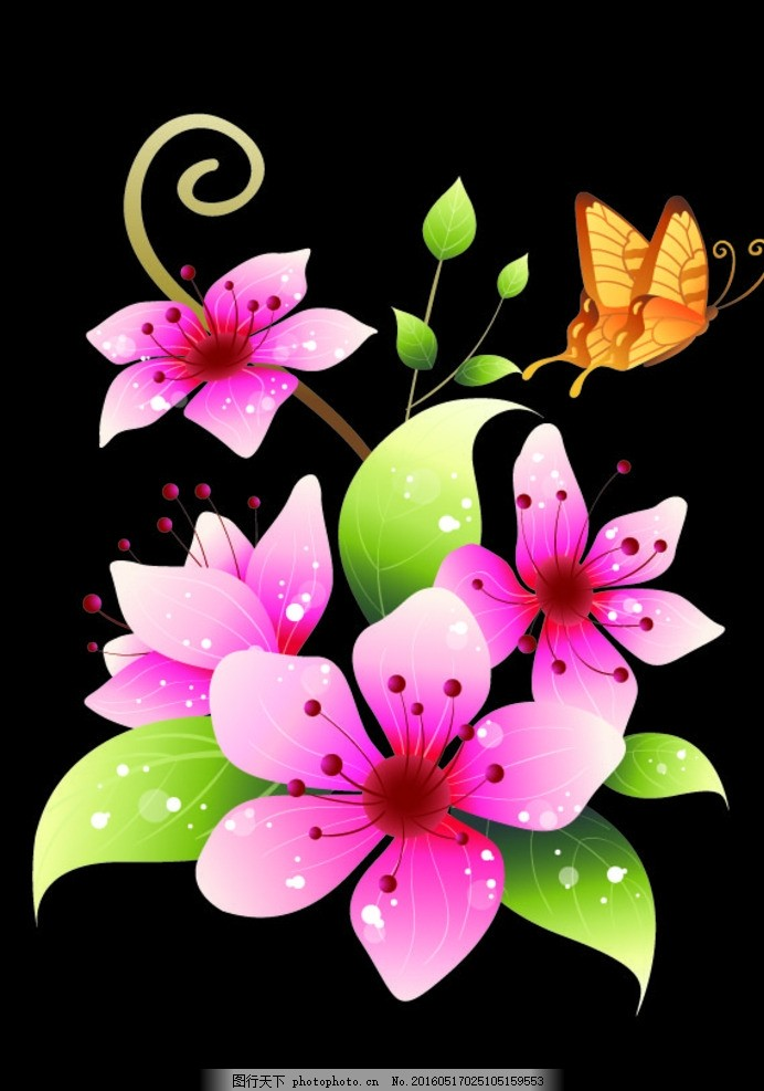 花朵风景竖屏高清
