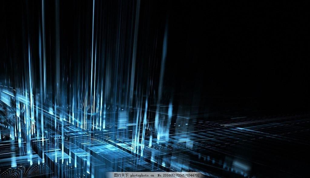 科幻电脑背景 科幻 电脑 芯片 黑蓝 好看 设计 现代科技 科学研究 300