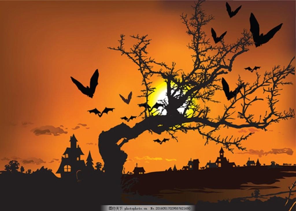 黄昏 乡村 晚霞 风 节日 树冬 风景 摄影 自然景观 自然风景