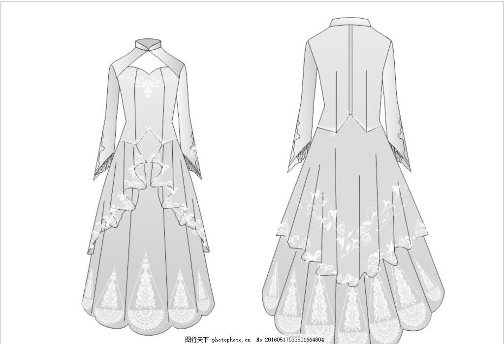 4 6服装手绘效果图
