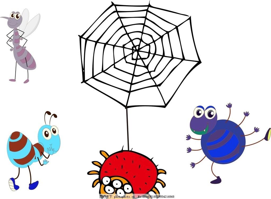 蚂蚁 卡通素材 可爱 素材 手绘素材 儿童素材 昆虫 幼儿园素材 卡通