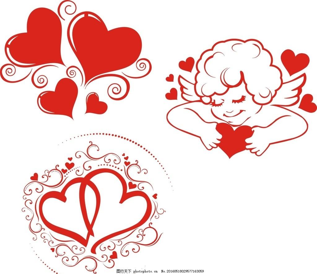 情人节 素材 心形大全 卡通心形 手绘心形 心形图案 心形素材 心形