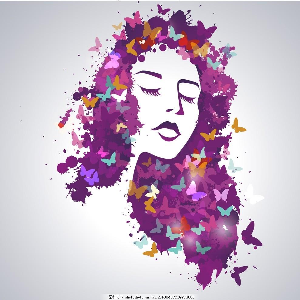 水彩画女人