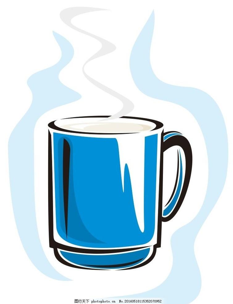 水杯 杯子 简笔画 线条 线描 简画 黑白画 卡通 手绘 标志图标 简单