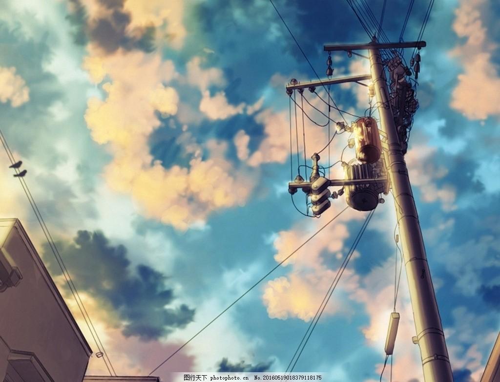 动漫场景 唯美 动漫 场景 天空 日系 设计 动漫动画 动漫人物 72dpi j