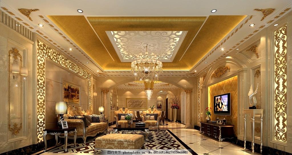 欧式室内效果图        欧式 装修 欧式装修 豪华 豪欧 宫廷 土豪