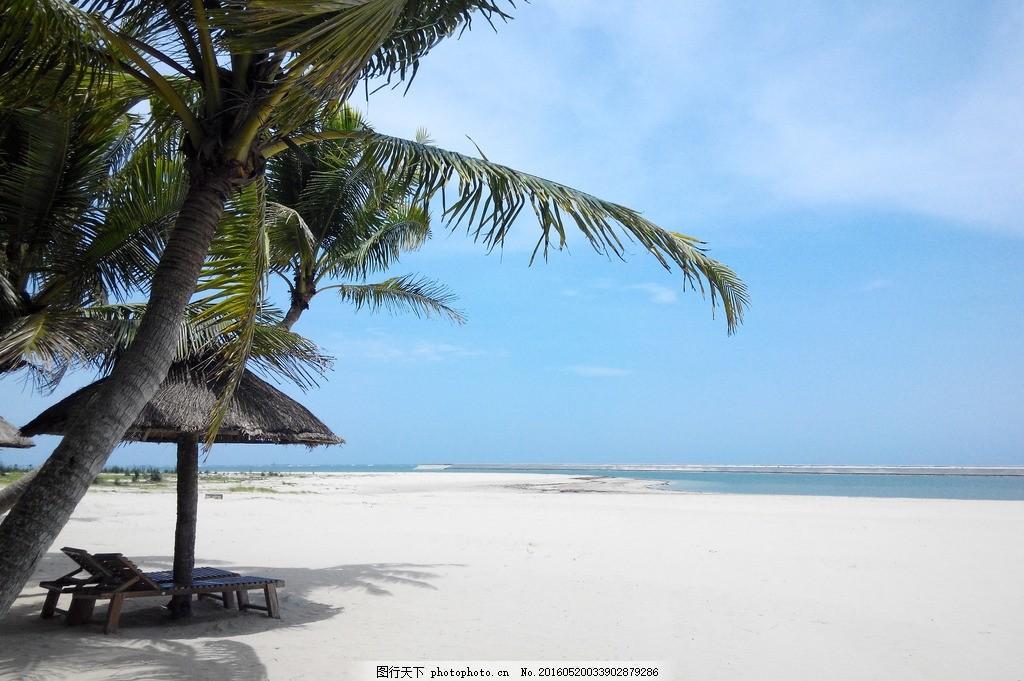 海边 风景摄影 摄影 自然景观 山水风景 三亚 蓝天白云 椰子 椰子树