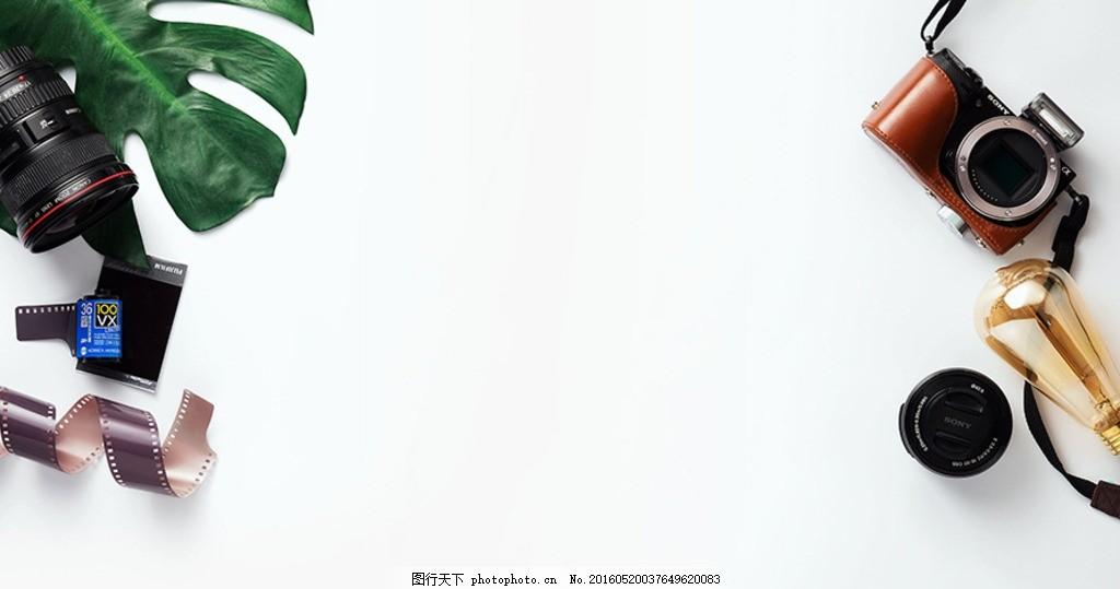 照相机静物背景 摆放 文艺 森系 眼镜 清新 商务 春季 背景素材