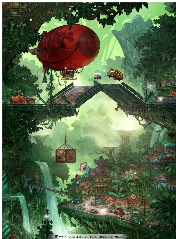 疯狂动物城 动物方城市 动物乌托邦 动物都市 热带雨林 热带雨林区 飞