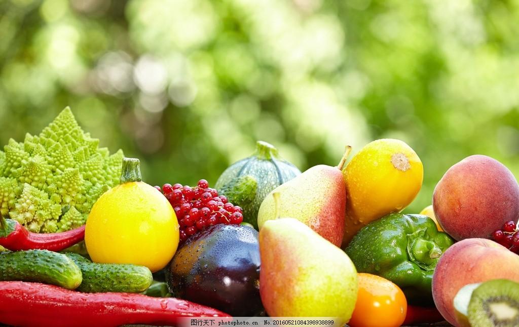 果蔬 瓜果 蔬菜 水果 青菜 梨子 辣椒 茄子 猕猴桃 黄瓜 南瓜 食品 食