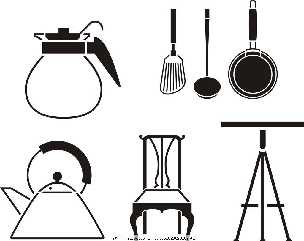 简单的厨房简笔画
