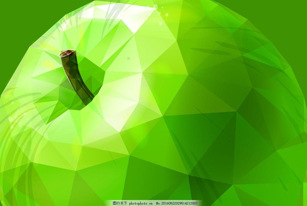 手绘苹果树叶背景图