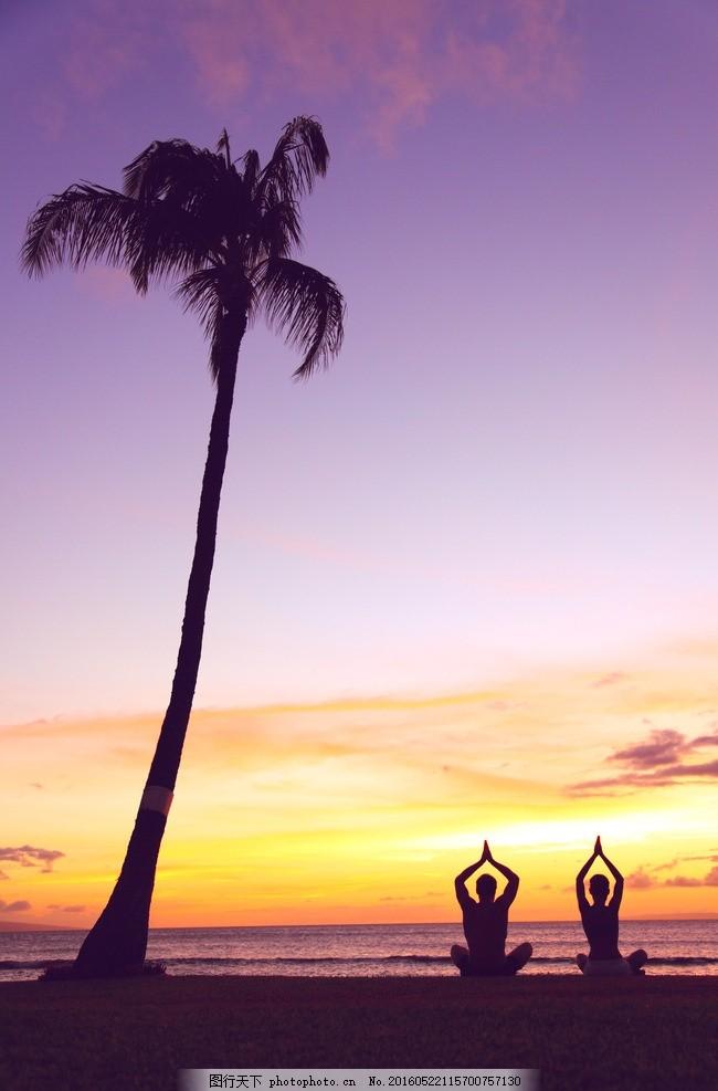 夕阳瑜伽 唯美 炫酷 体育 运动 锻炼 瑜伽 夕阳 落日 海边瑜伽 摄影
