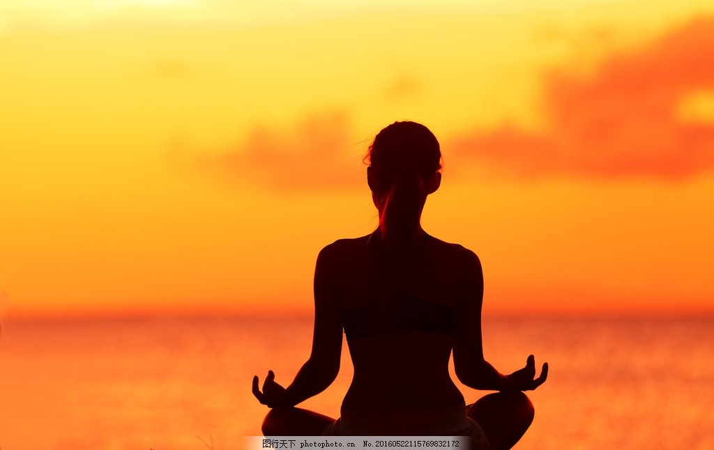唯美 炫酷 体育 运动 锻炼 瑜伽 夕阳 落日 日落 黄昏 傍晚 海边瑜伽