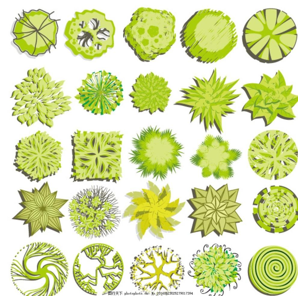 花草树木 生物世界 矢量素材 eps格式      设计 生物世界 树木树叶图片
