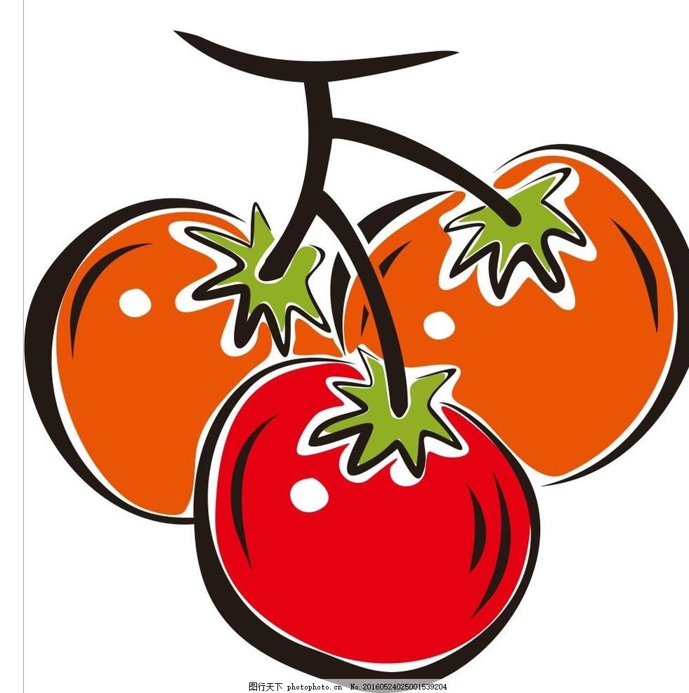 蔬菜 水果 简笔画 线条 线描 简画 黑白画 卡通 手绘 标志图标 简单