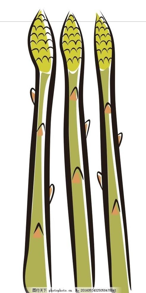 莴笋 蔬菜 水果 简笔画 线条 线描 简画 黑白画 卡通 手绘 标志图标