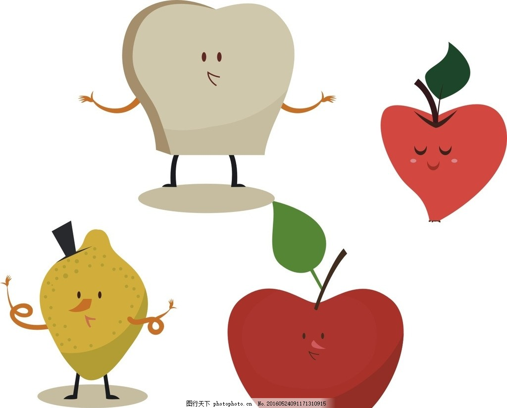 水果表情 苹果 梨