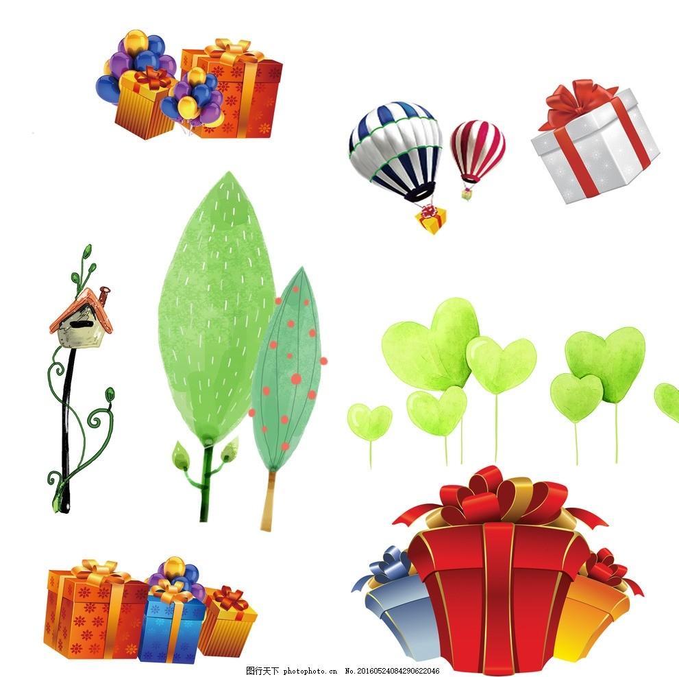 礼物 手绘树木 心形树木