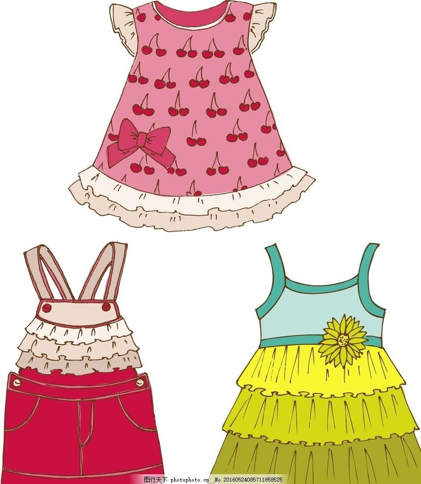卡通儿童服装 儿童时装 童装 衣服 服装 服饰 裙子 连衣裙 时尚 儿童