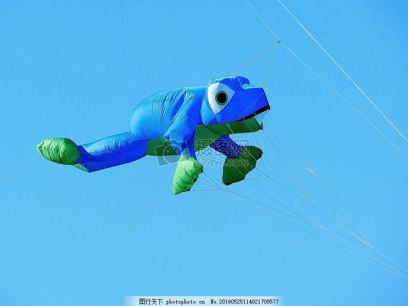 蓝天下的卡通气球 气球 龙 青蛙 蓝色 飞 天空蓝天 卡通 玩具