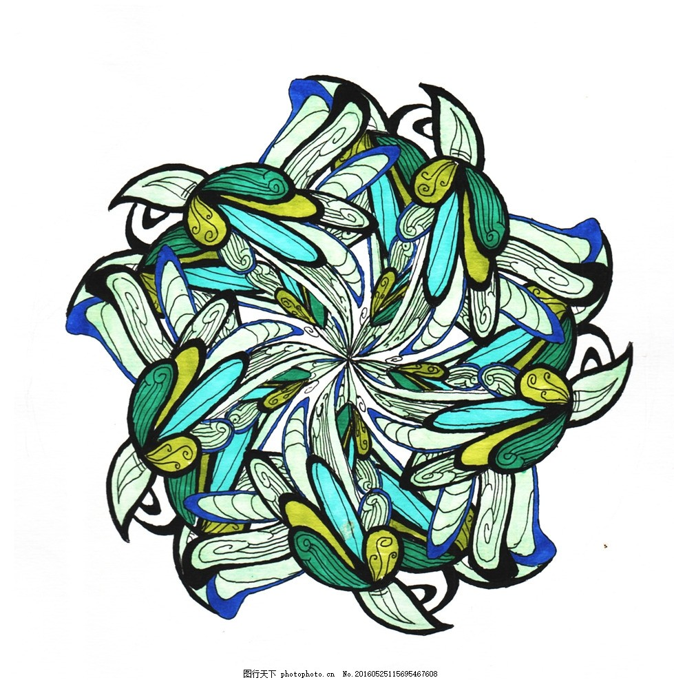 连续图案花卉 植物 纹样 适合 图案 连续图案 设计 文化艺术 绘画书法