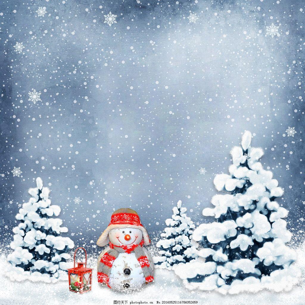 卡通圣诞节背景 卡通圣诞节背景图片素材下载 背景板 雪花 飘雪图片