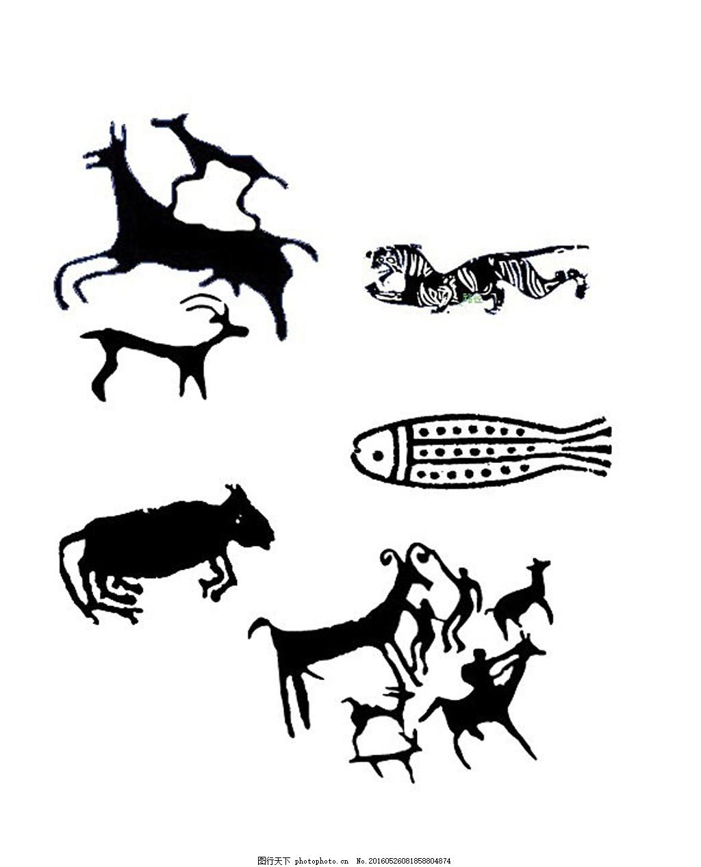 神兽拓印矢量素材08 花纹 历史 青铜器 神兽 图案 动物 印记 古典