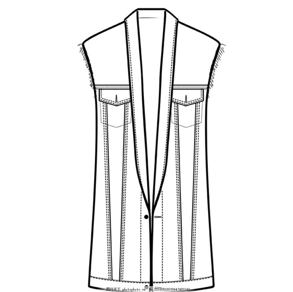 服装绘画 cdr线描图 手绘稿