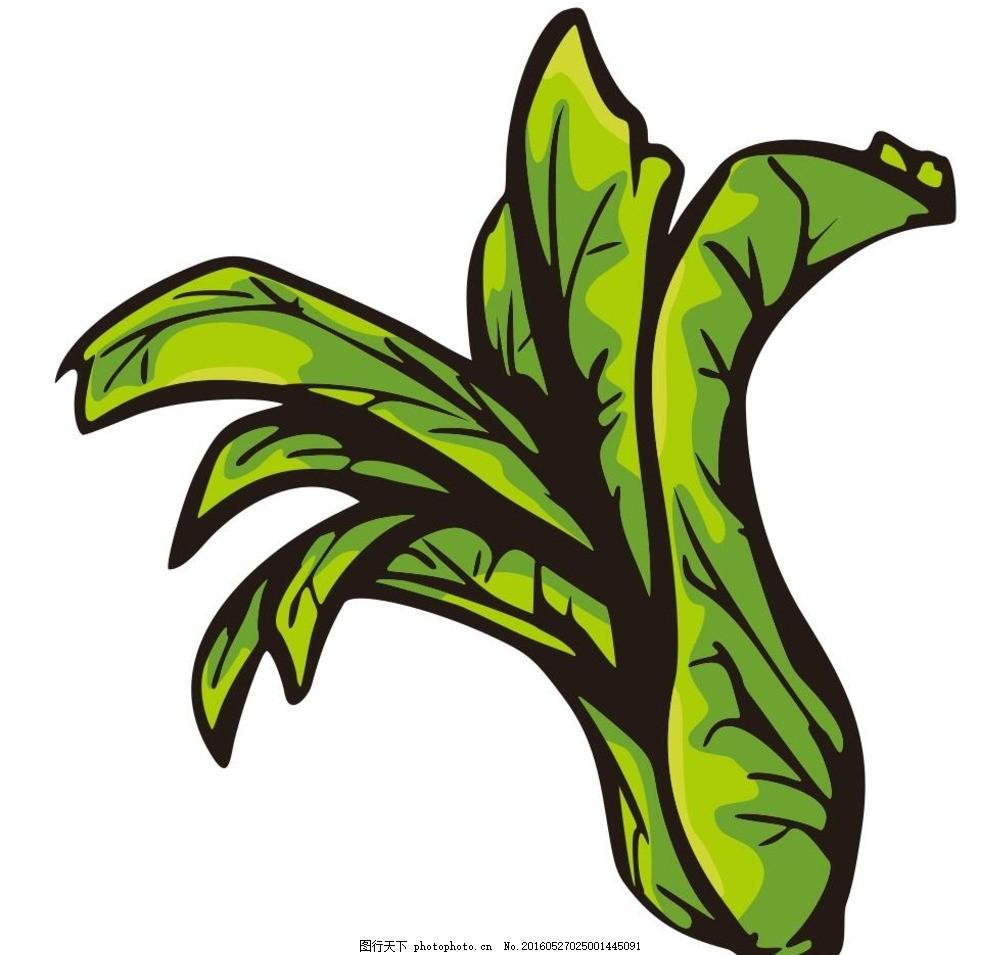 蔬菜 青菜 蔬菜 水果 简笔画 线条 线描 简画 黑白画 卡通 手绘 标志