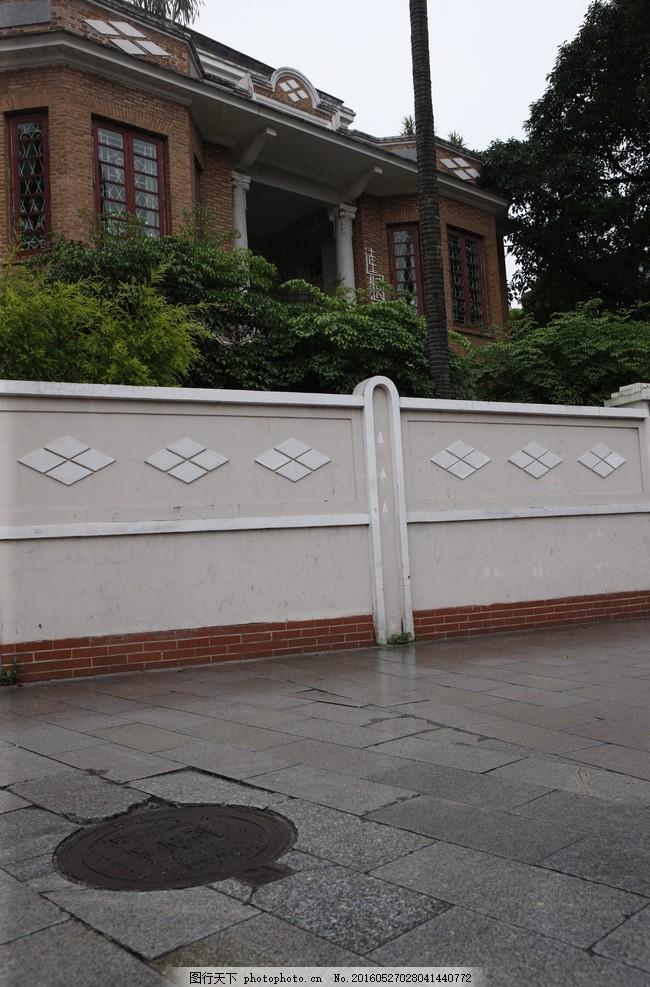 欧式围墙 栏杆 园林 美化 绿化 铁艺栏杆 围栏 外墙 庭院 花园