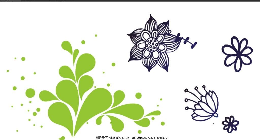 欧式 复古 怀旧 欧式荷花 荷花素材 复古荷花素材 花朵简笔画 矢量