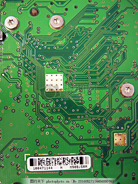绿色的电子芯片 硬盘 驱动器 信息 线路 电路 编号 红色