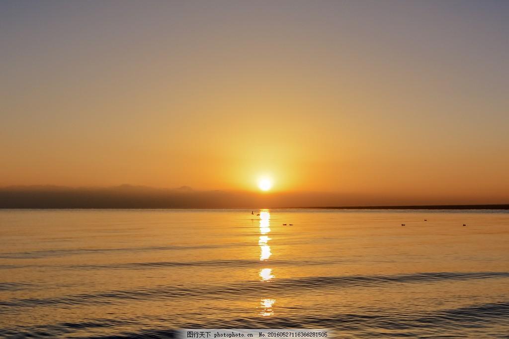 唯美海上日出风景图片