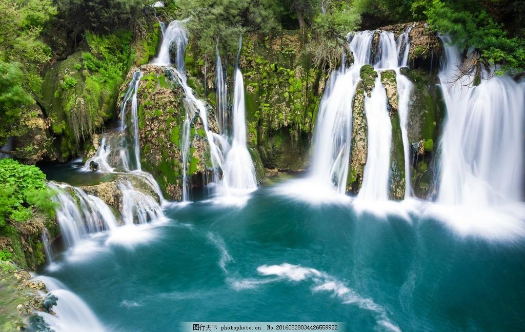 美丽瀑布水潭风景 美丽 瀑布 水潭 风景      照片 摄影 自然景观