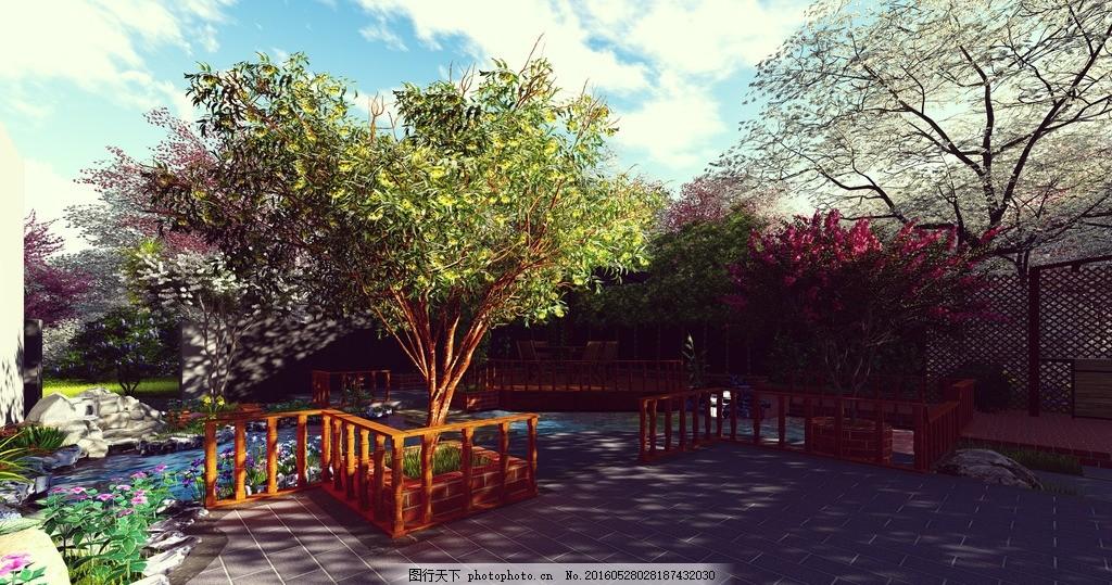 庭院景观效果图 景观 庭院        lumion 私家花园 设计 环境设计 景