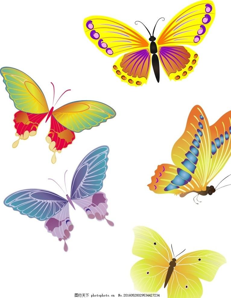 素材 手绘素材 卡通 矢量 抽象 可爱卡通 矢量素材 矢量装饰素材 蝴蝶