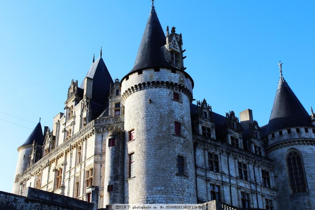 古典欧式古城堡风景 古典欧式古城堡风景图片素材下载 古堡 法国建筑
