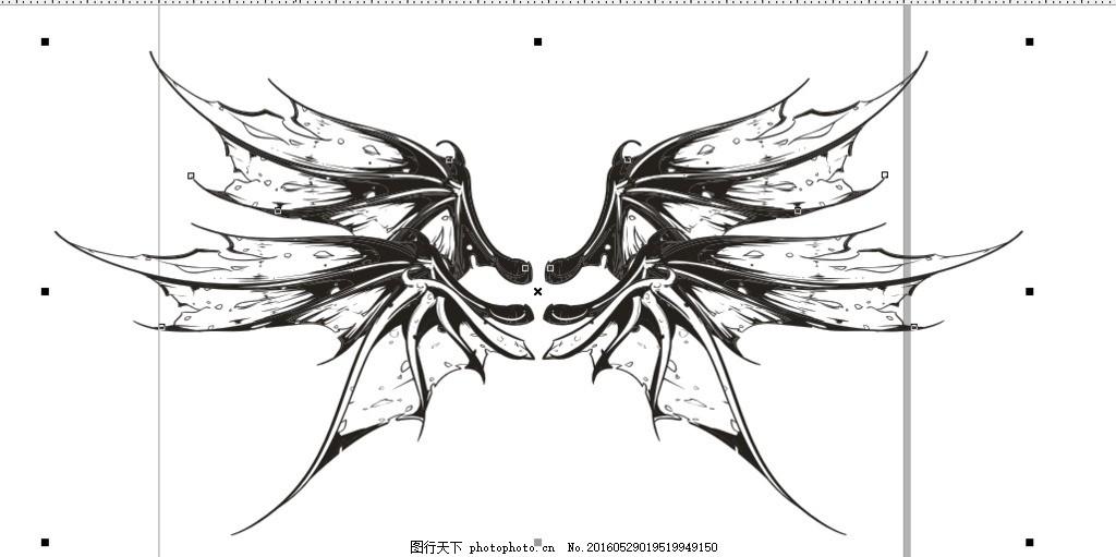 六翼恶魔翅膀
