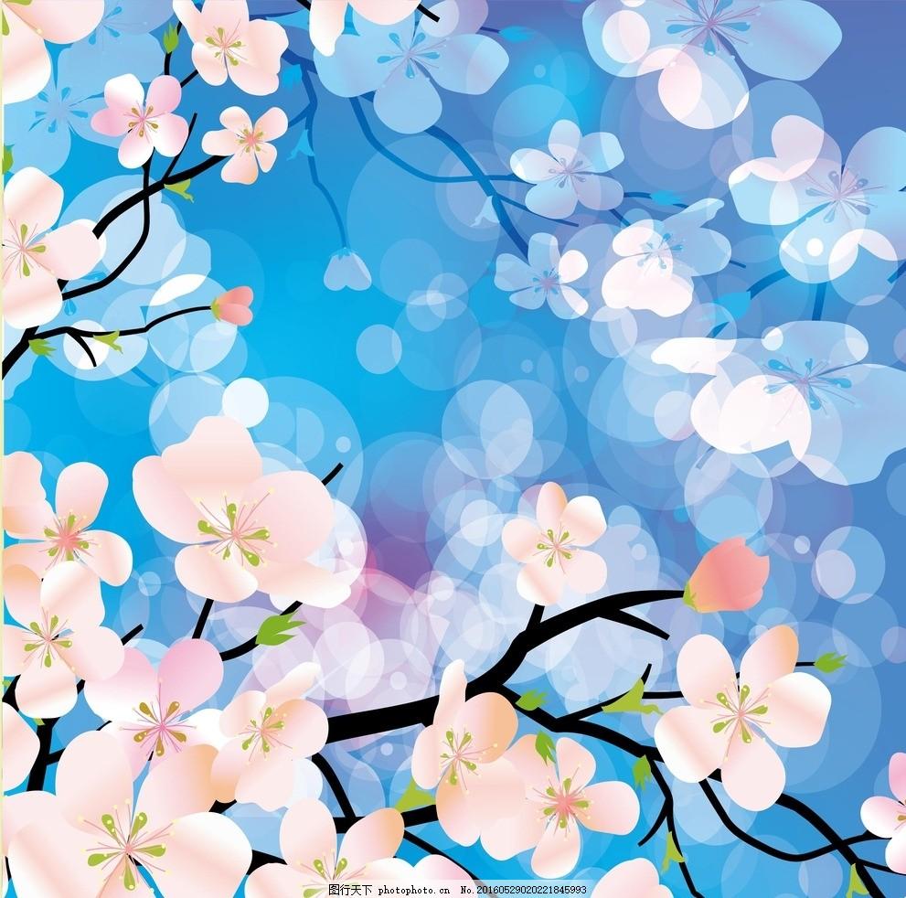 桃花平面图手绘图例