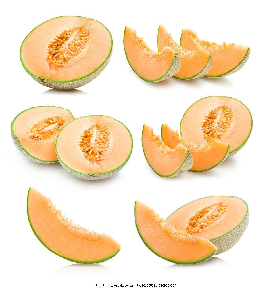 切开的哈密瓜 切开的哈密瓜图片素材 水果 新鲜水果 摄影图 蔬菜图片图片