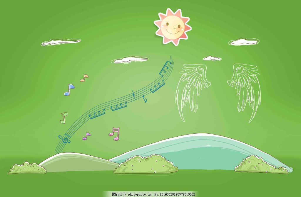 创意线描手绘图案 创意 线描 手绘 城市 书本 花朵 建筑 学校 卡通