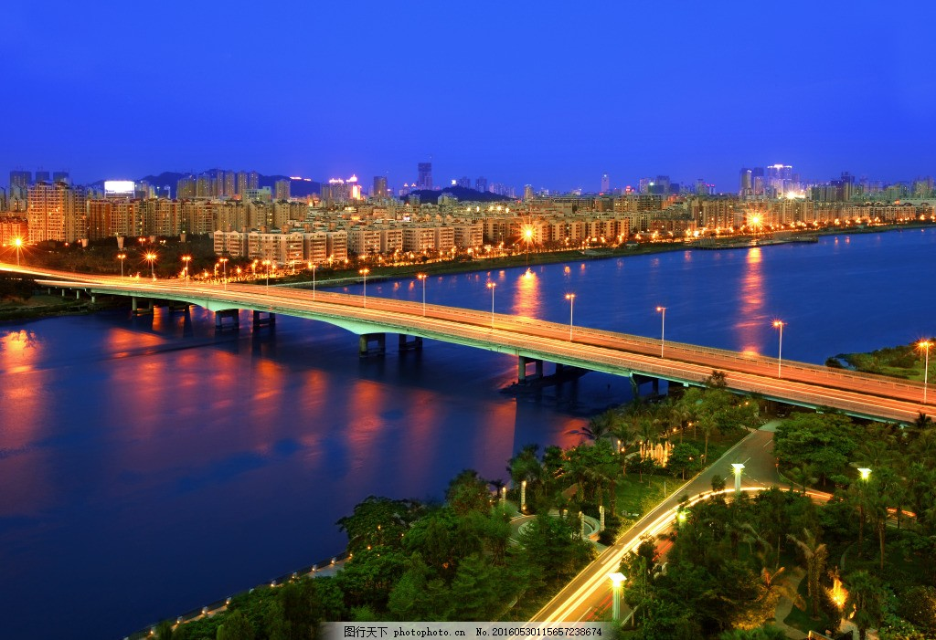 高精度 珠海风景 夜景 珠海前山立交桥