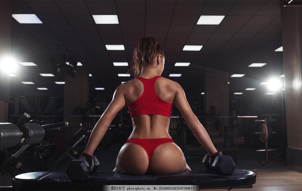 模特 美女 健身房 运动 减肥 紧身衣 运动服 身材 性感 健美 运动