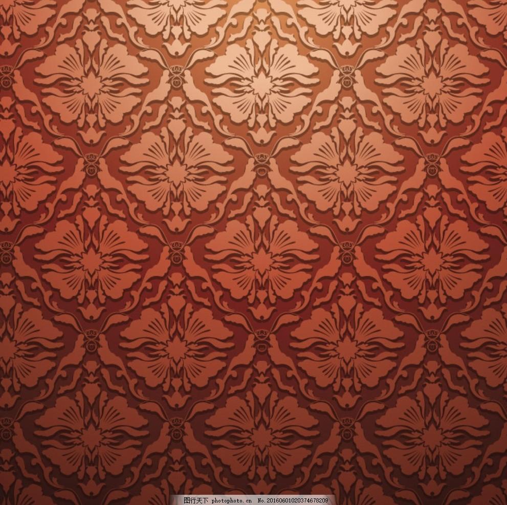 欧式花纹 四方连续 布纹 日式 花纹花边 平铺 日式花纹 花纹背景