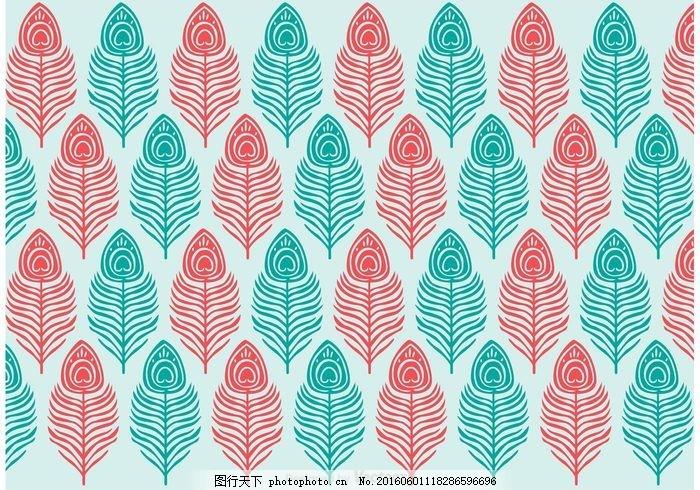 孔雀花纹矢量 孔雀 图案 印刷 花边 包装 线 织物 装饰 纹理 华丽