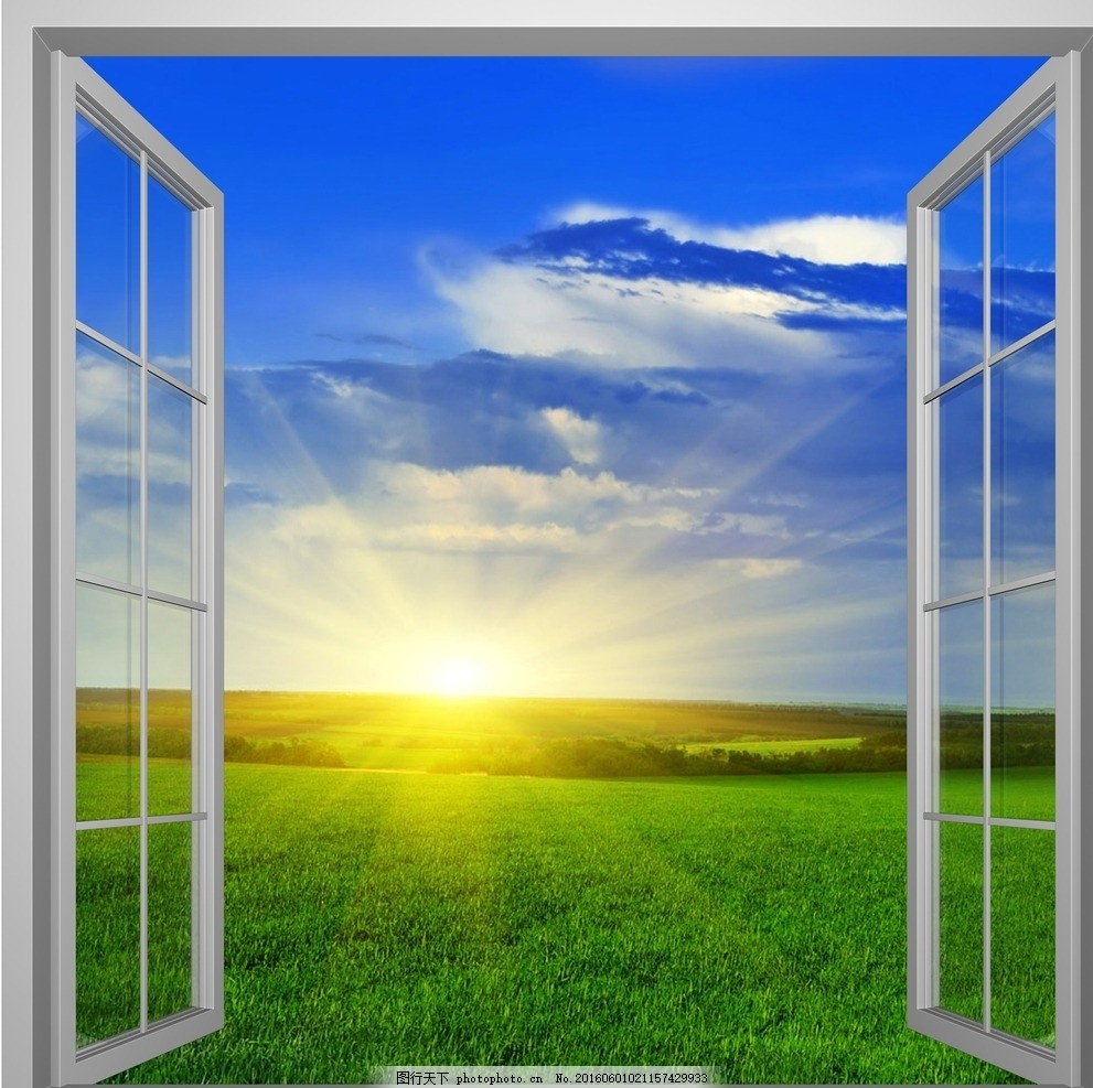 环境设计窗户手绘