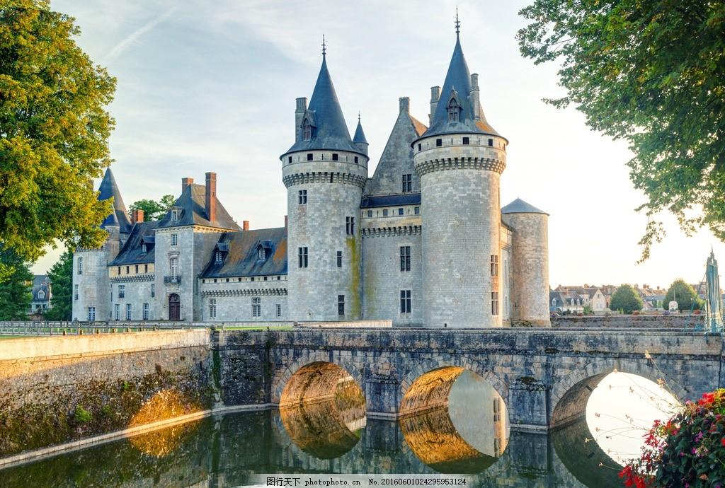 城堡 欧洲 古堡 古建筑 别墅 豪宅 庄园 园林 旅游 草地 河流