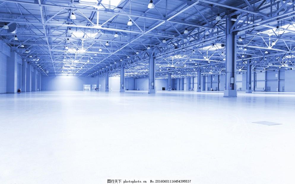 高清钢结构厂房工厂 钢结构 厂房 大气厂房 车间 工厂 摄影 现代科技