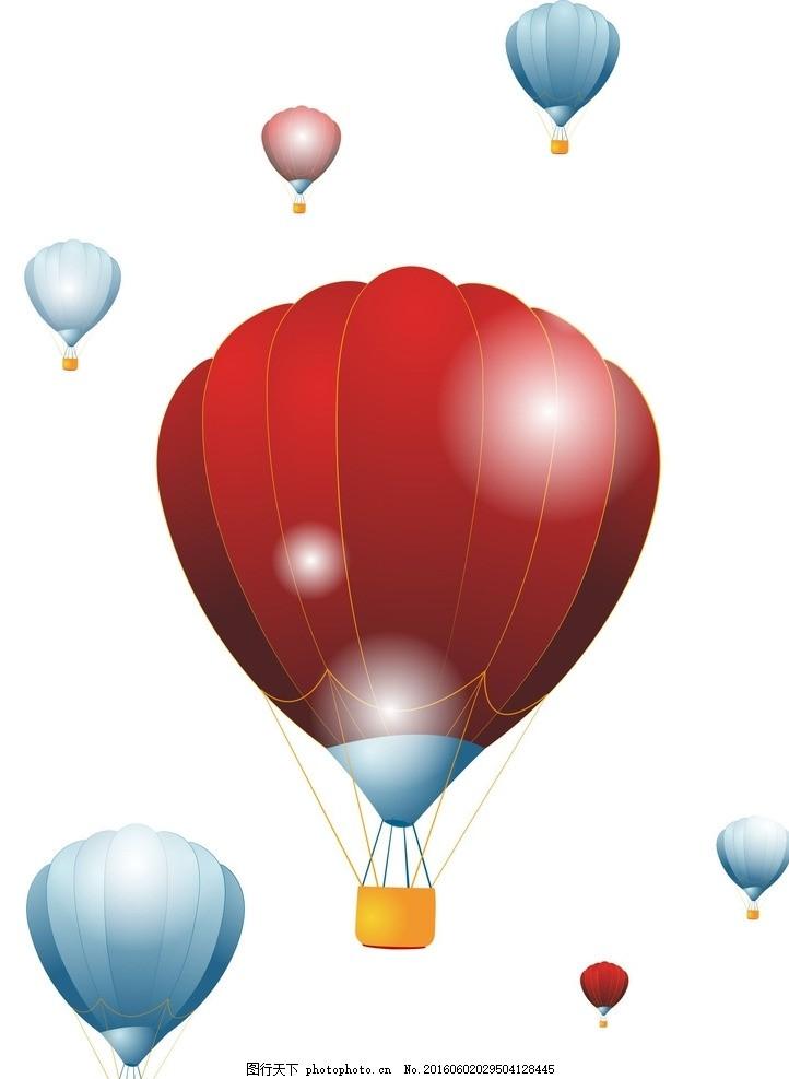 卡通氢气球矢量素材